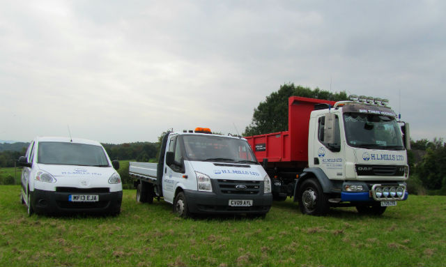 photo of our works vehicles